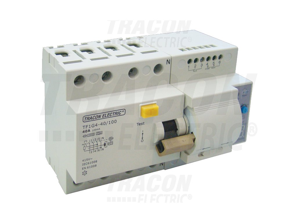 Prúdový chránič s funkciou automatického znovuzapnutia, 4P 63A, 100mA, 10kA, A / AC