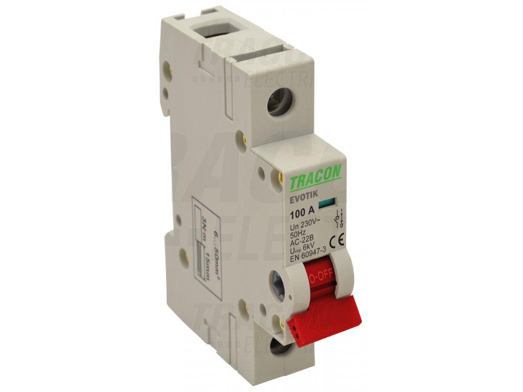 Modulárny vypínač 1P 100A TIK1-100 Tracon