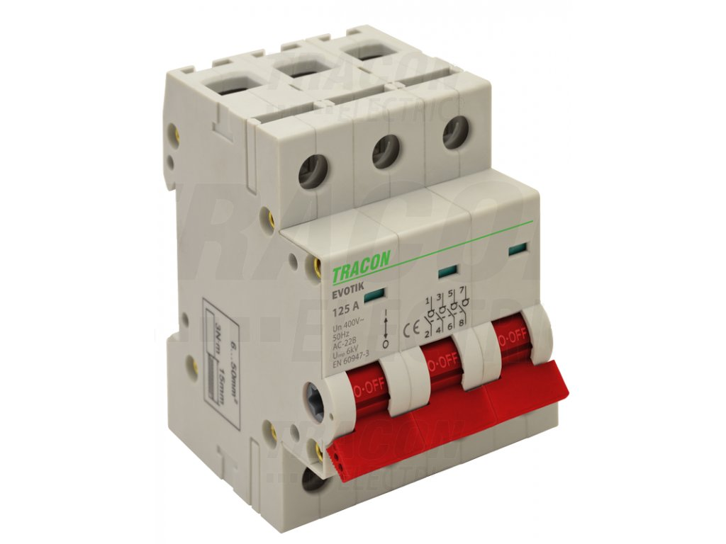 Modulárny vypínač 3P 80A TIK3-80 Tracon