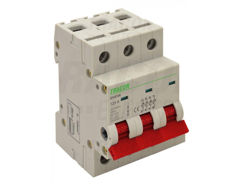 Modulárny vypínač 3P 100A TIK3-100 Tracon