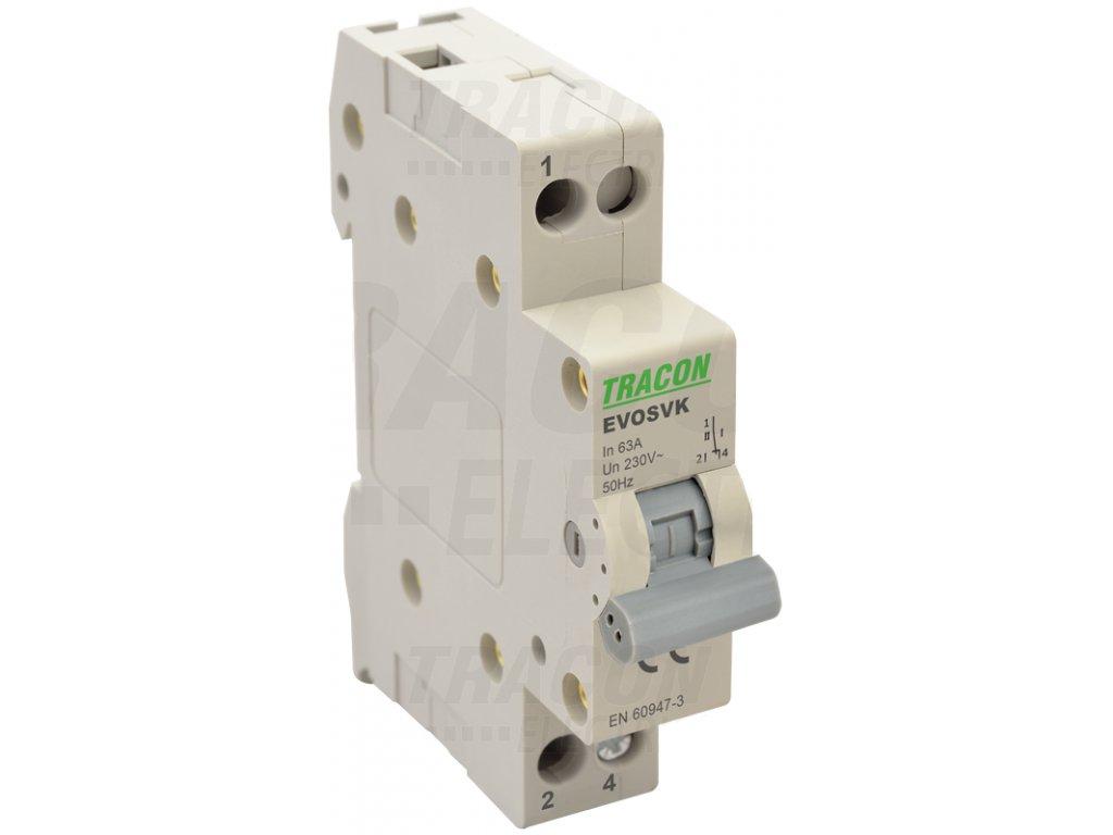 Modulárny prepínač 1P 16A SVK1-16
