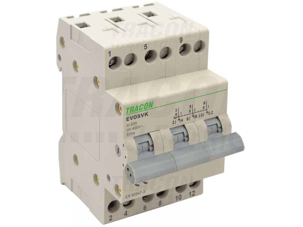 Modulárny prepínač 3P 63A SVK3-63