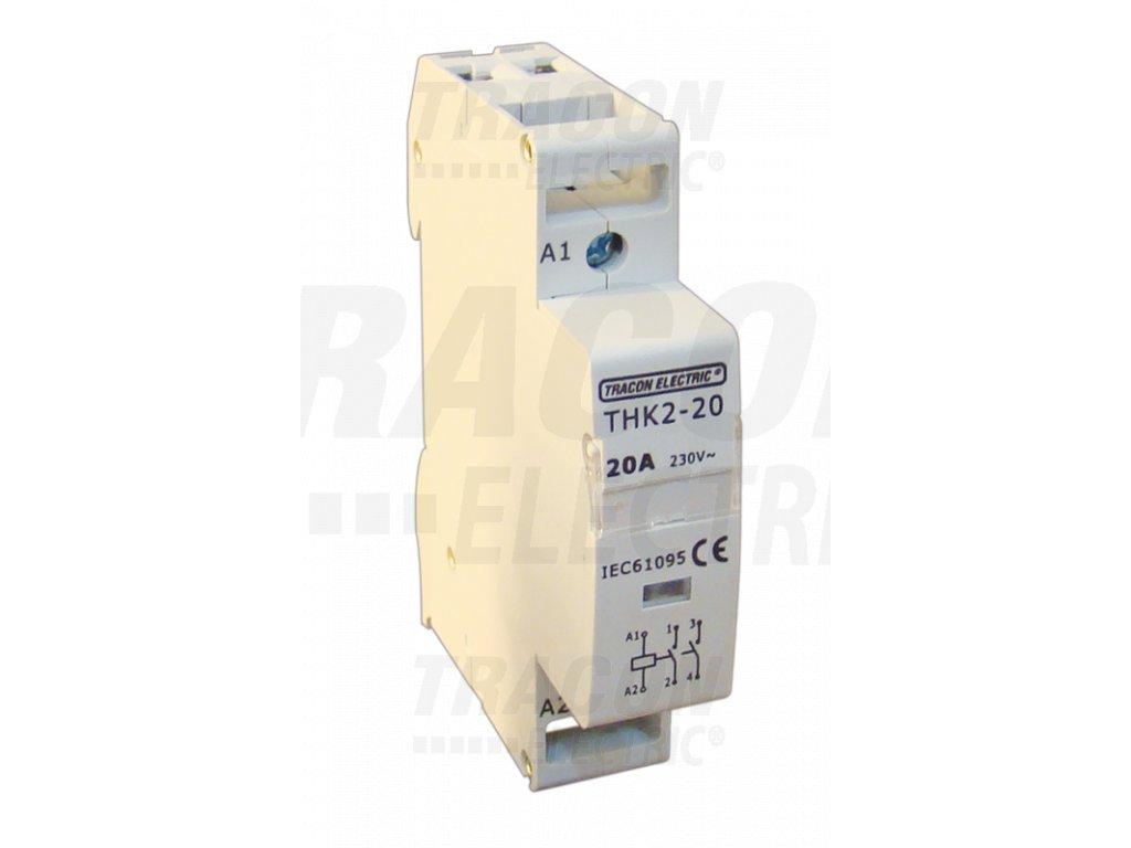 Modulárny stykač 2P 20A 230/400V 1xNO+1xNC 24V AC THK2-20-24