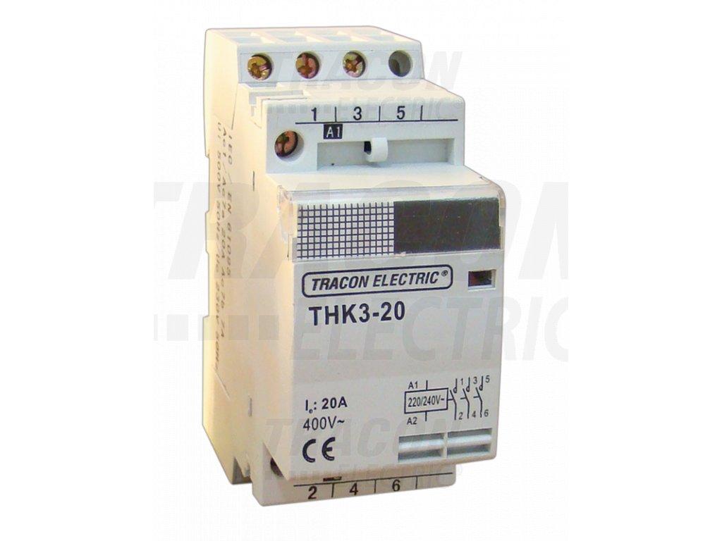 Modulárny stykač 2P 40A 230/400V 2xNO 24V AC THK2-40-24
