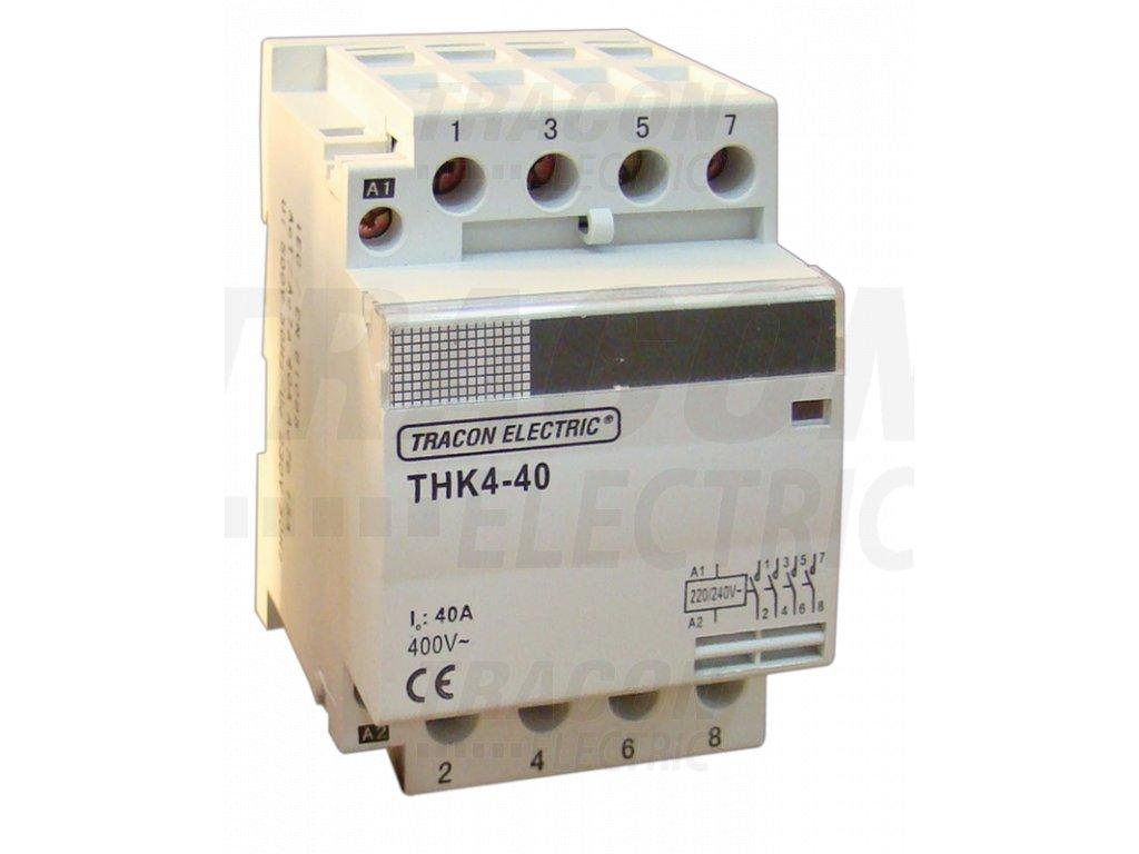 Modulárny stykač 4P 63A 230/400V 4xNO 24V AC THK4-63-24