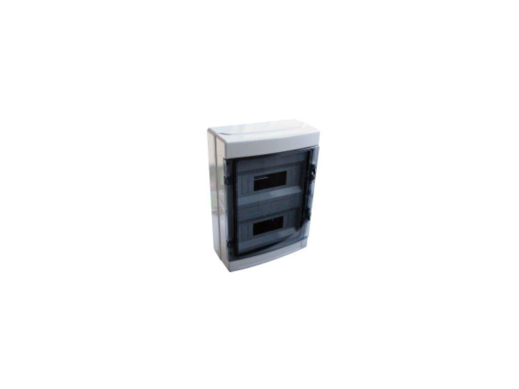 Bytová rozvodnica 24 (2x12) IP65 nadomietková EDFKIP65-12/2
