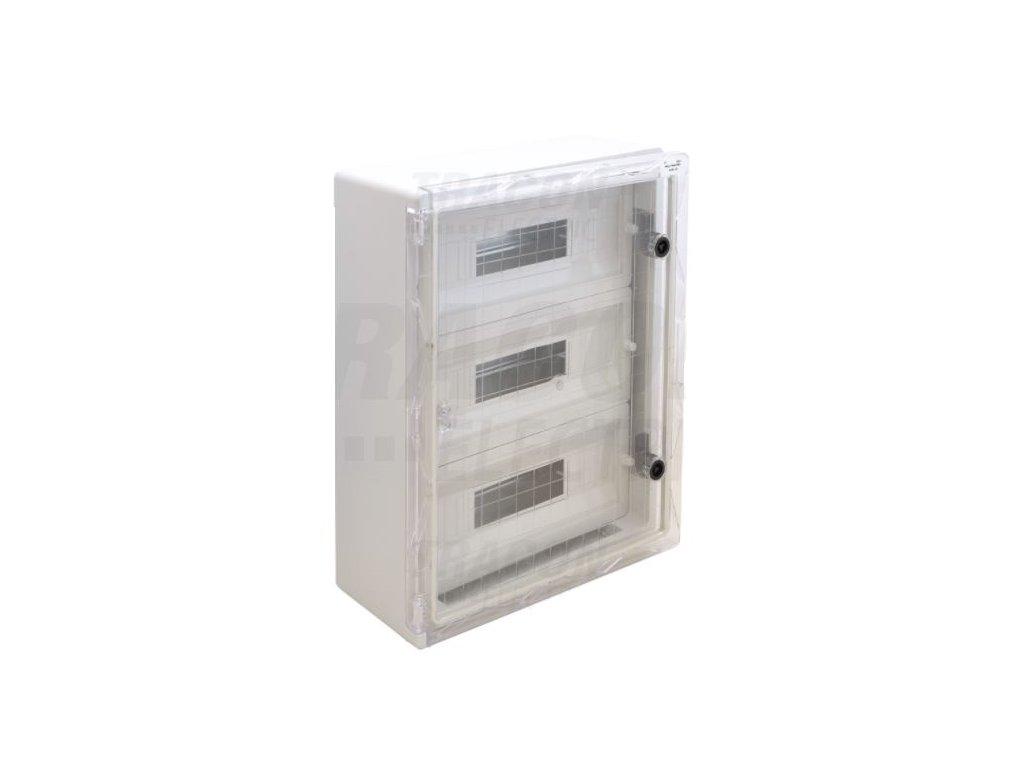 Rozvodná skriňa na povrch 51 (3x17) IP65 TME504018MT