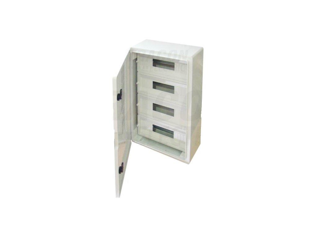Rozvodná skriňa na povrch 68 (4x17) IP65 TME604020MT