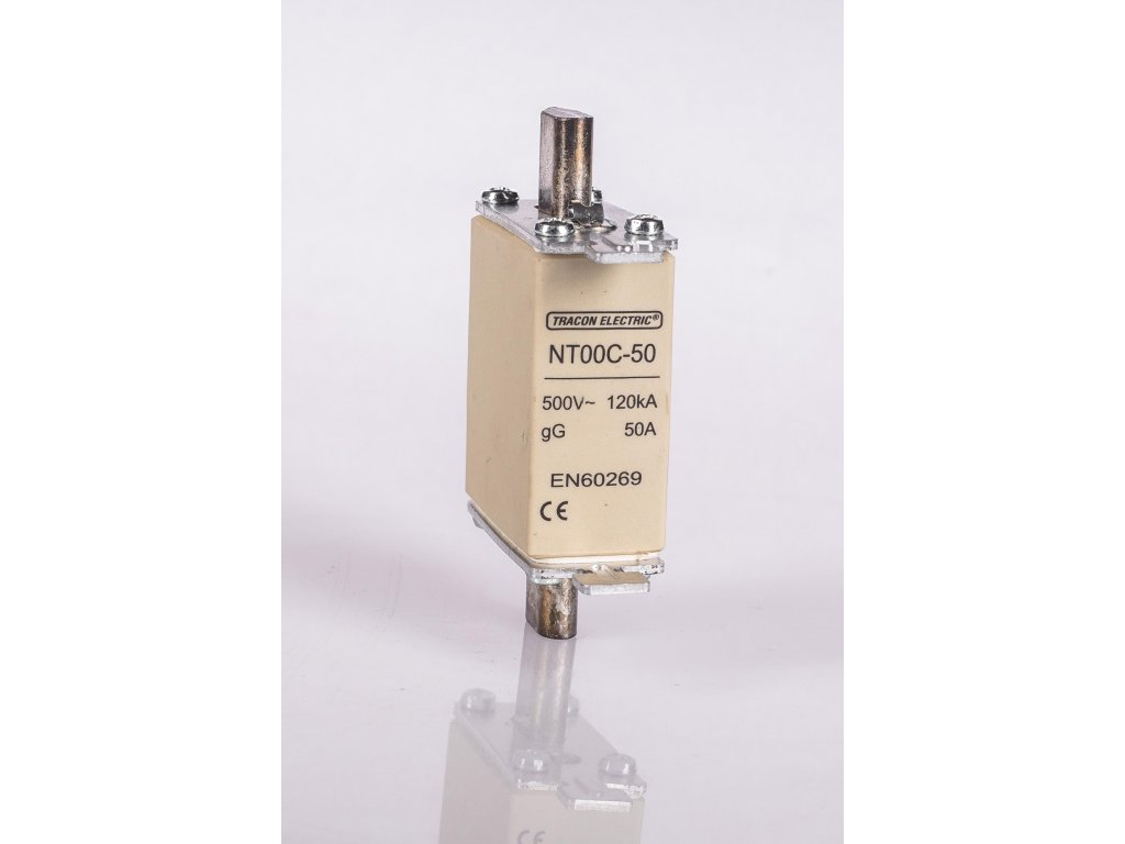 Nožová poistka 63A 500V AC gG NT00C-63