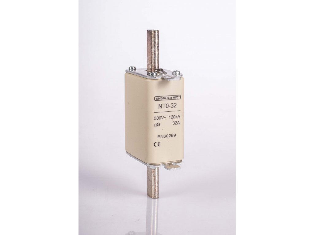 Nožová poistka 32A 500V AC gG NT0-32