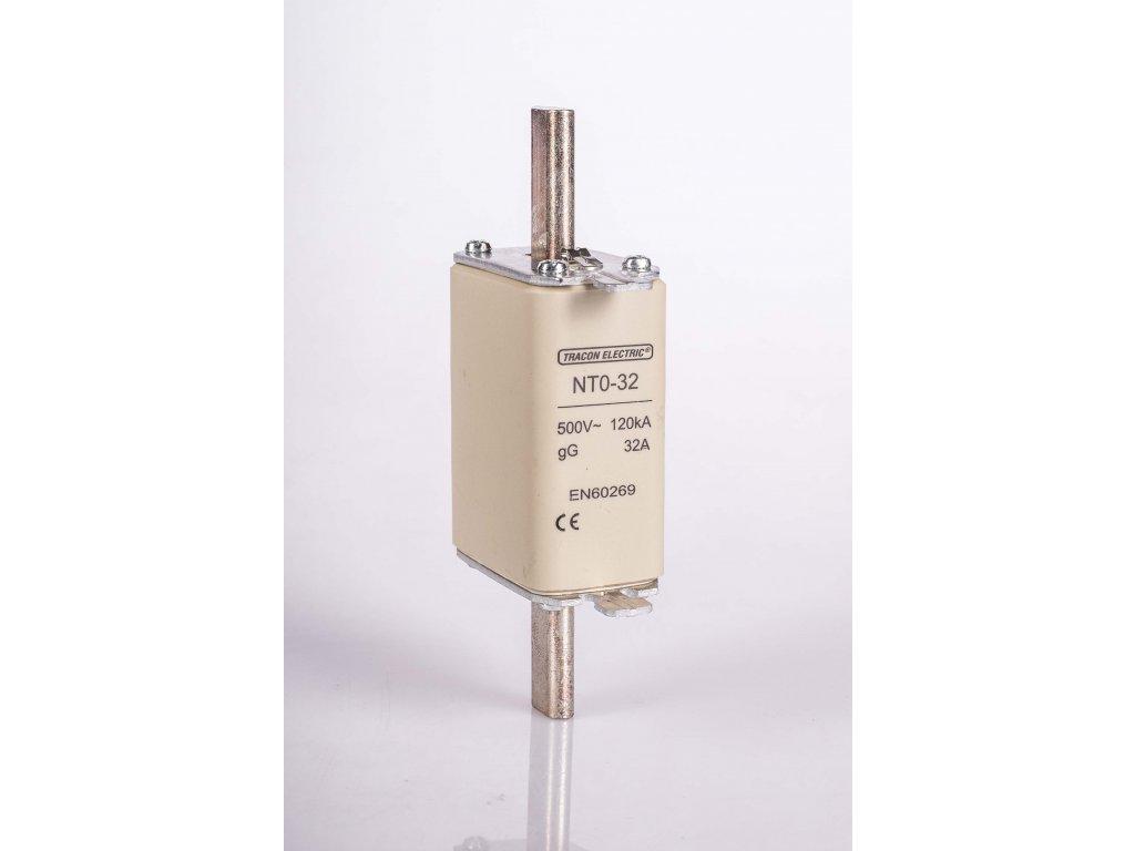 Nožová poistka 63A 500V AC gG NT0-63