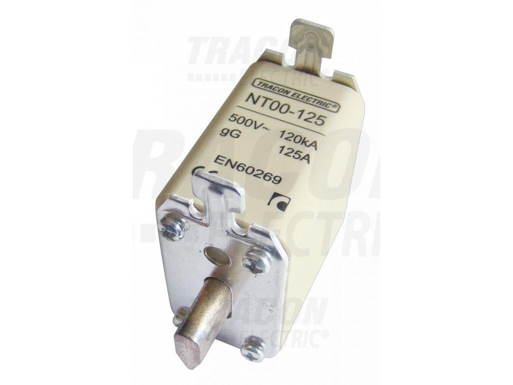 Nožová poistka 10A 500V AC aM NT00-10