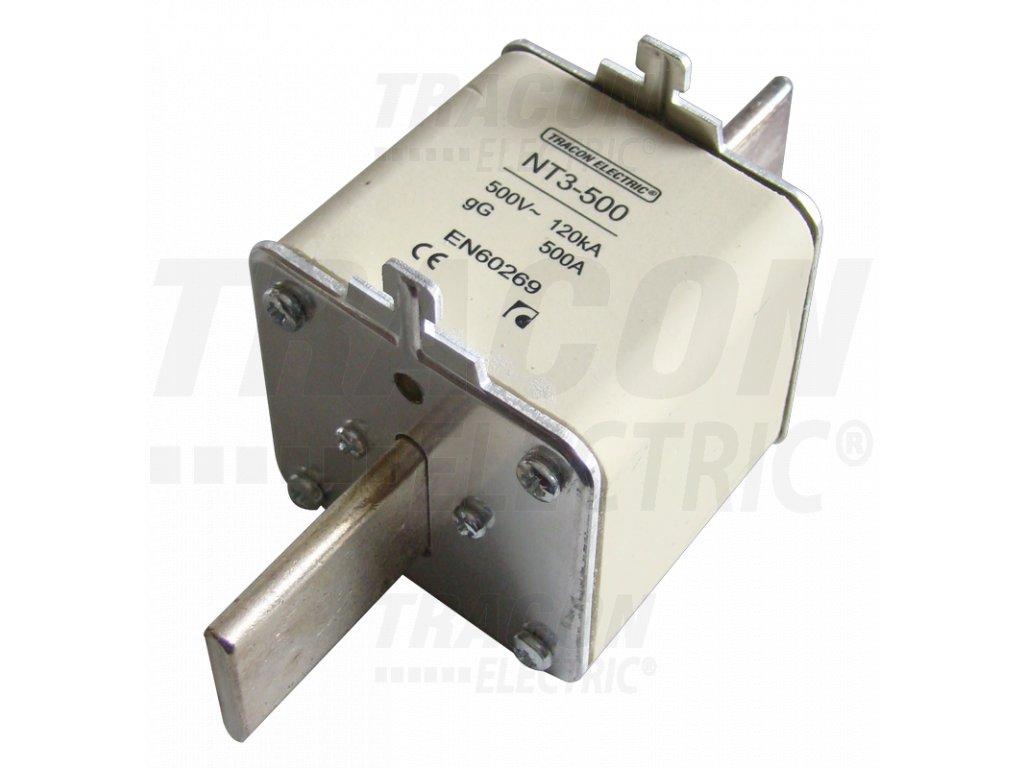 Nožová poistka 400A 500V AC aM NT3-400