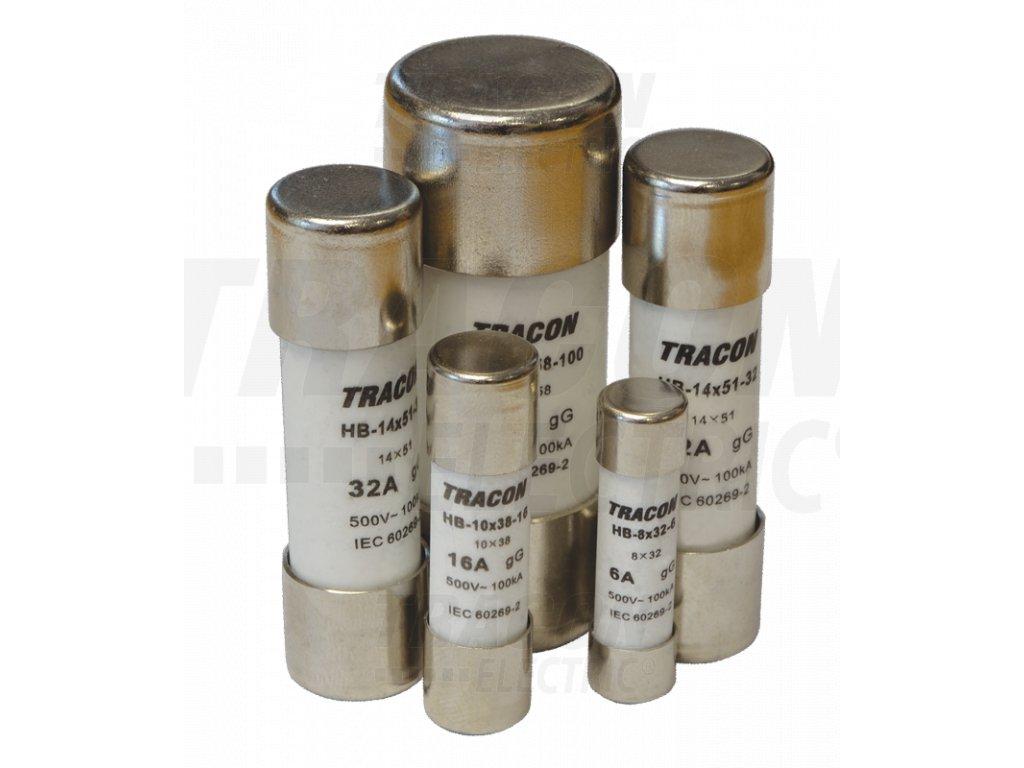 Valcová poistka aM 25A,500V,100kA,14x51
