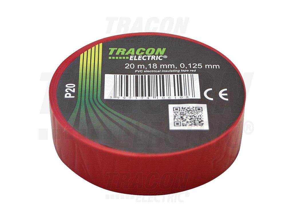Izolačná páska červená 20m×18mm