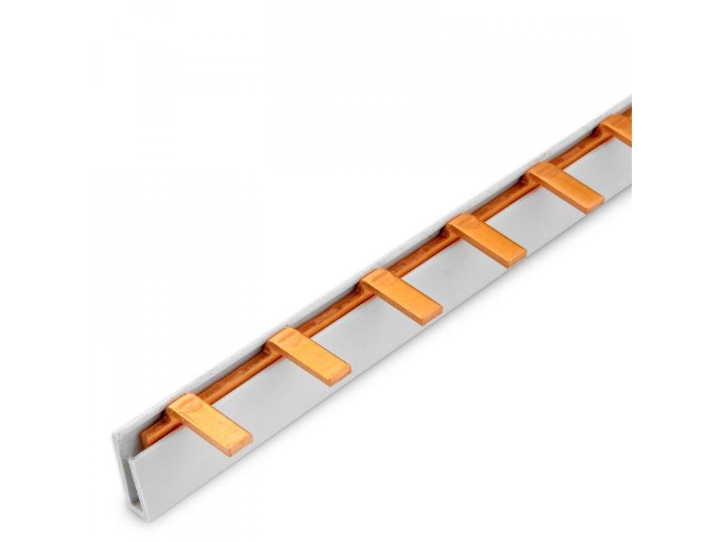 Prepojovacia lišta kolíková 1P 12modul 215mm TFSS-1-12