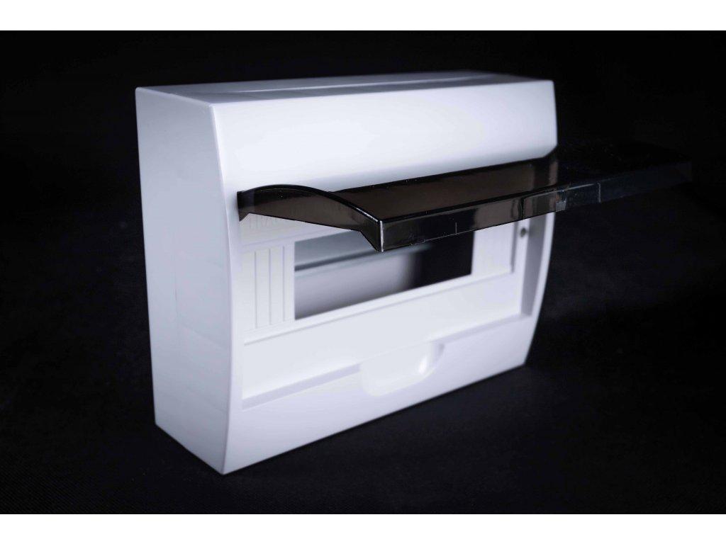 Rozvodná skriňa 1x12 modulová nadomietková priehľadné dymové dvere IP40 EDFK12/1