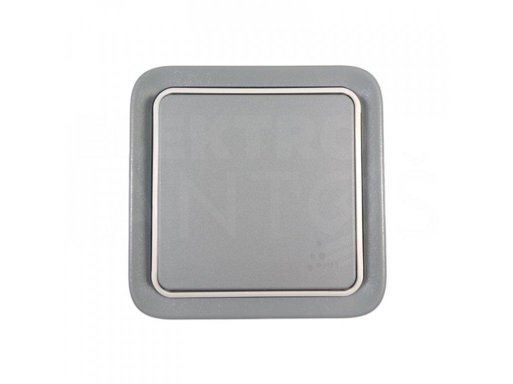 Vypínač č.6 IP55 sivý LEGRAND