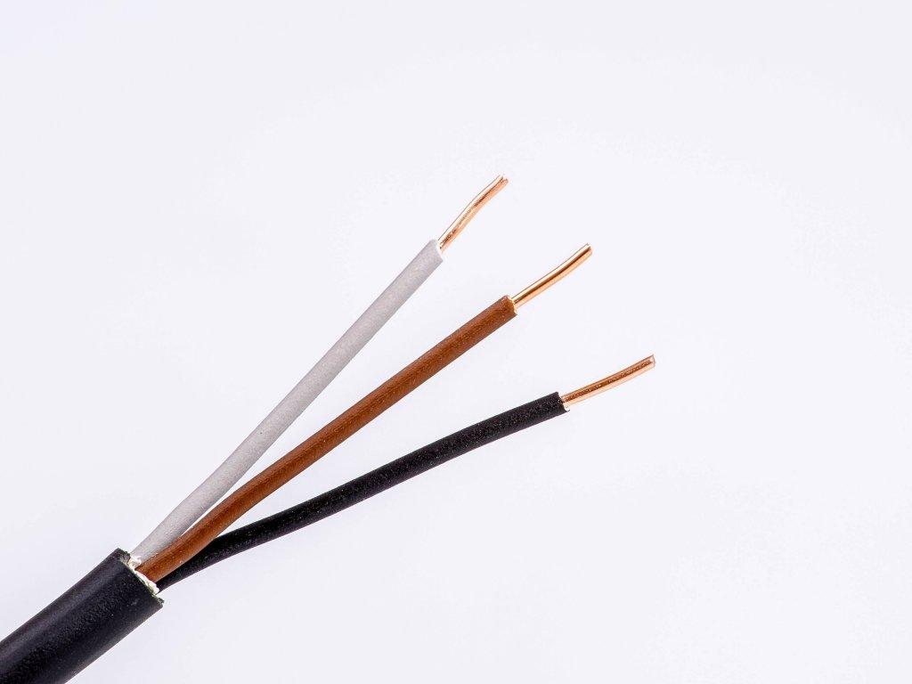 Okrúhly medený kábel na vypínače cyky-o 3x1,5