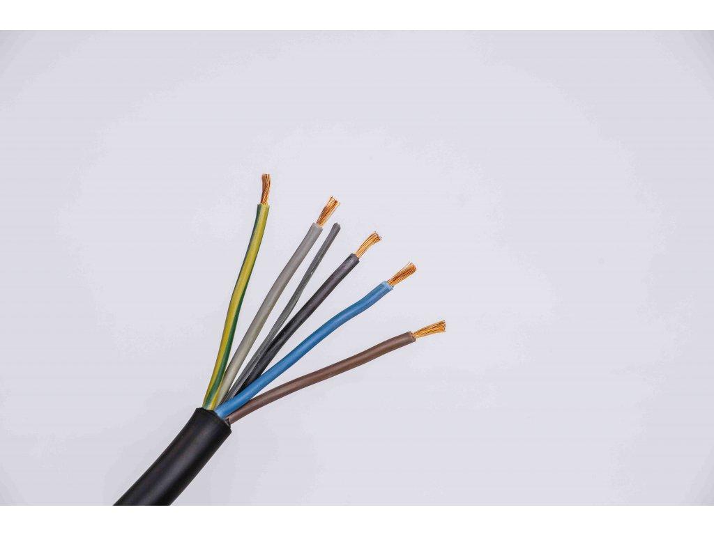 Kábel CGSG 5x2,5 H05RR-F gumový žily