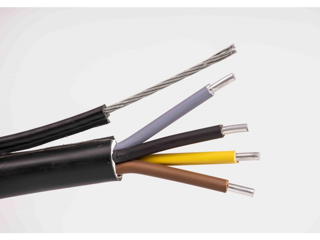 Vzdušný hliníkový kábel s lankom na prípojky ayky-z 4x25