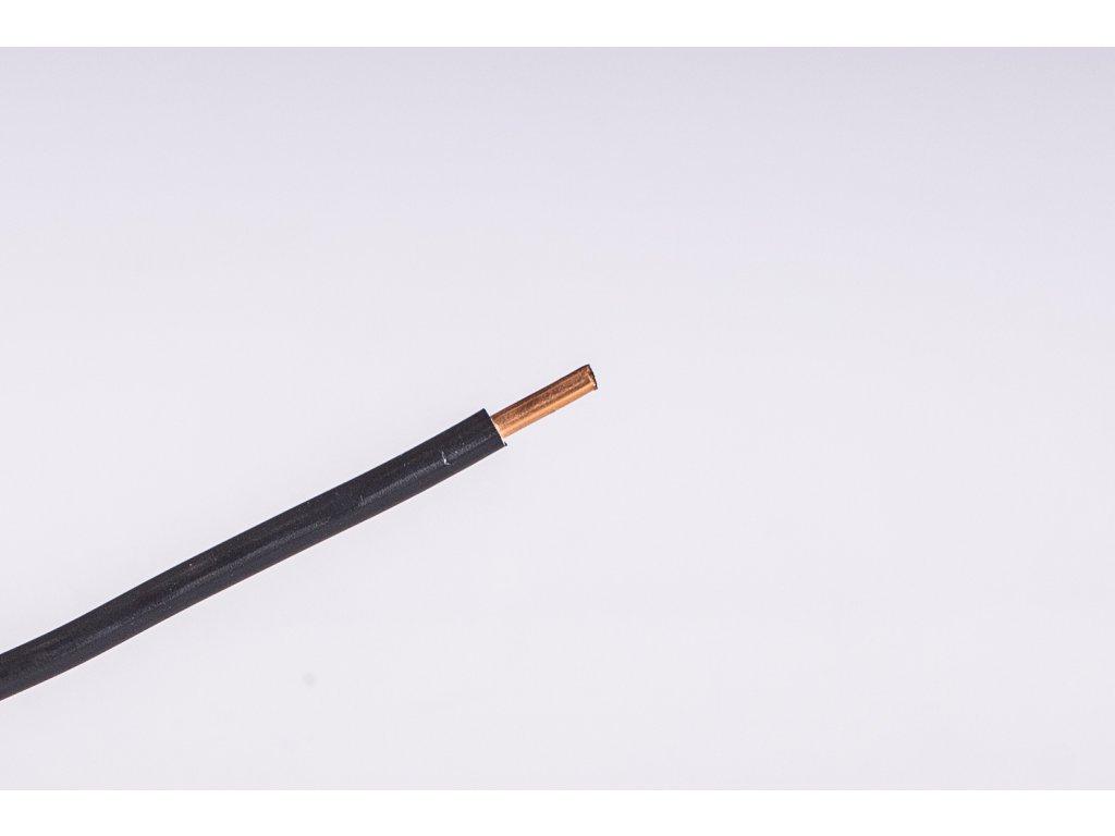 Vodič CY 10mm2 čierny pevný Darka kabely