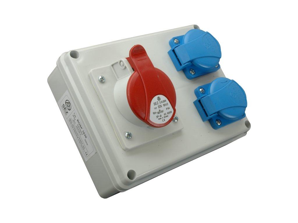 Rozvodnica zásuvková 4P ROSP 1630 1x16A/400V+2x230V SEZ DK