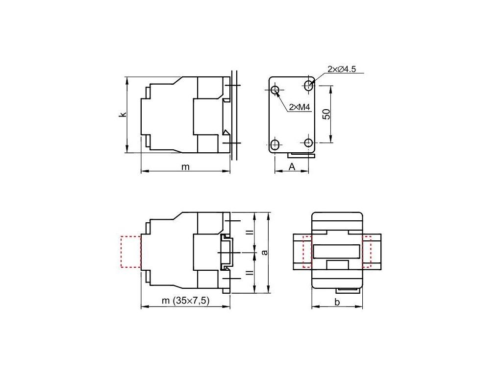 Stykač 9A cievka 400V AC 3xNO+1xNO TR1D0910V7 Tracon