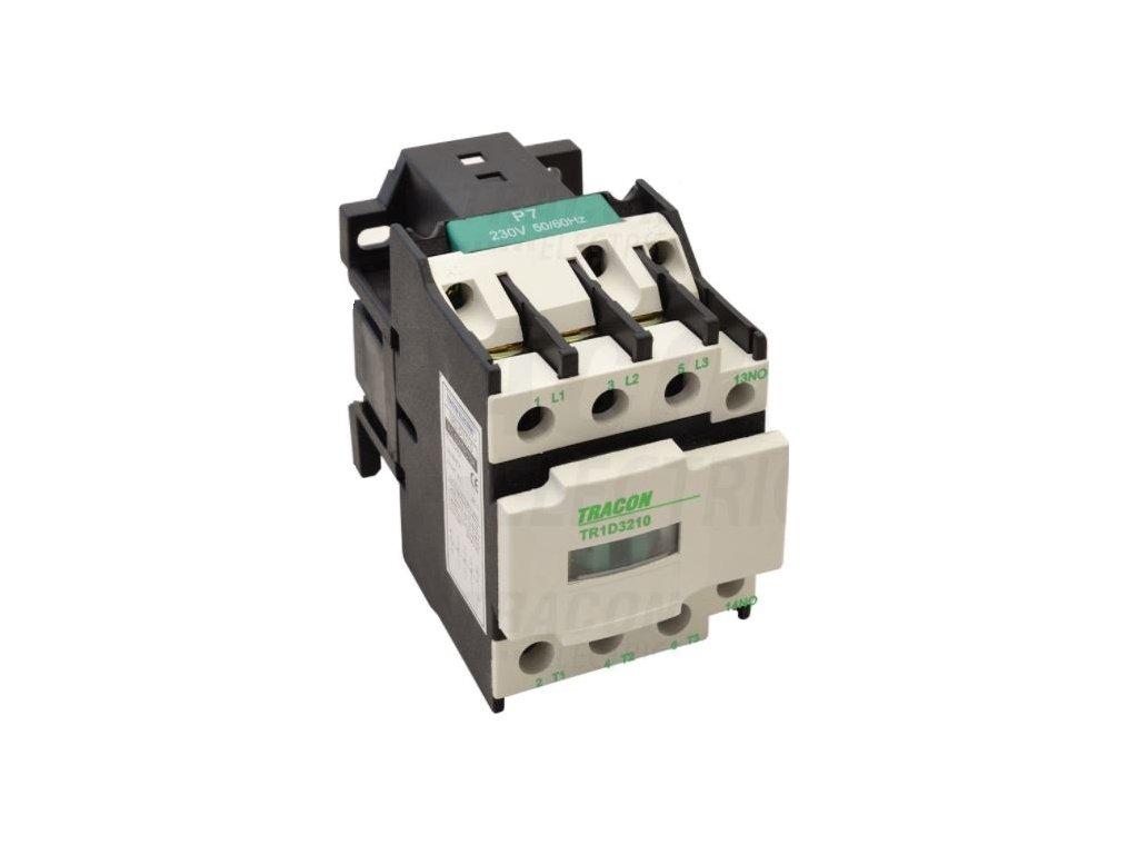 Stykač 12A cievka 230V AC 3xNO+1NO TR1D1210 Tracon