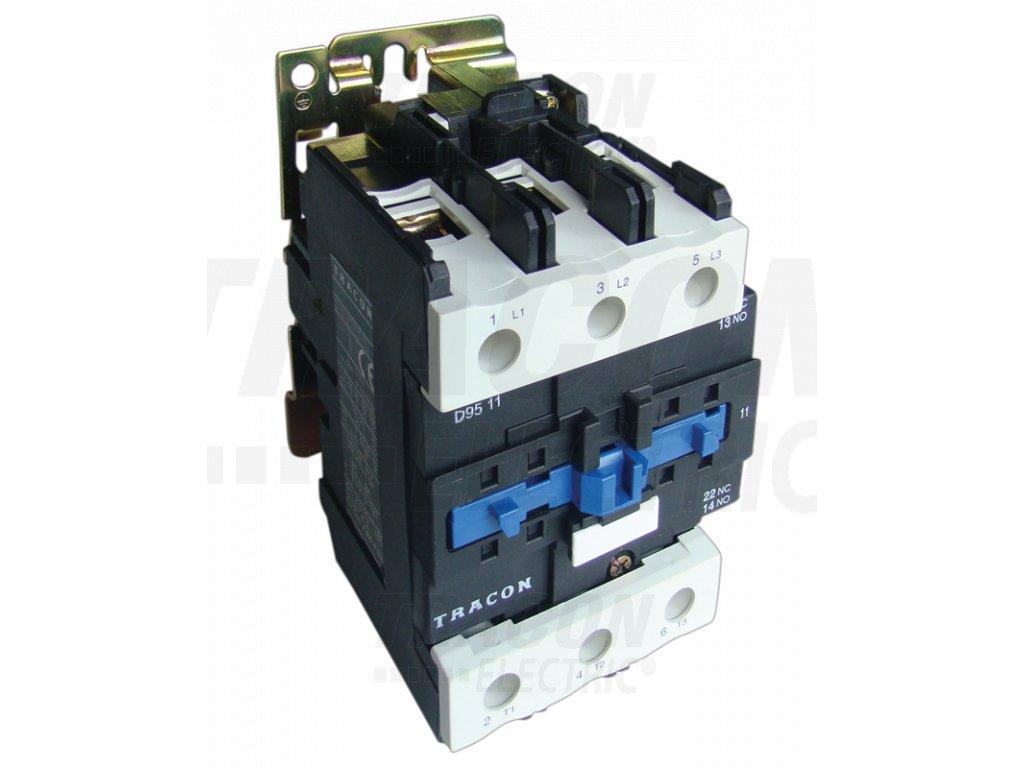 Stykač 660V, 50Hz, 95A, 45kW, 110V AC, 3×NO+(1×NO+1×NC)