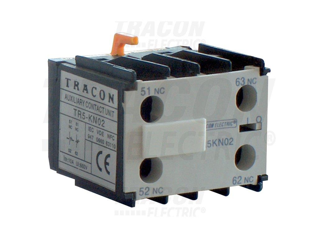 Blok čelných pomocných kontaktov k miniatúrnym stykačom TR1K 230V, 50Hz, 2A, 2×NO