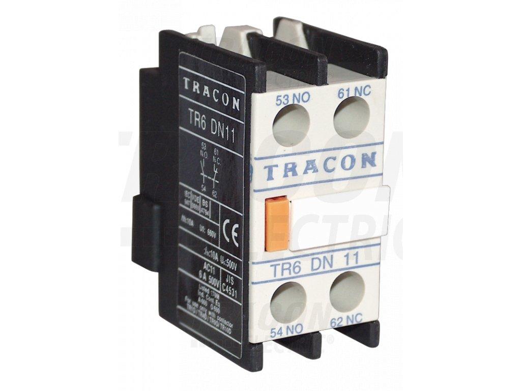 Blok čelných pomocných kontaktov k stykačom TR1D/F a TR1E 230V, 50Hz, 2A, 2×NC