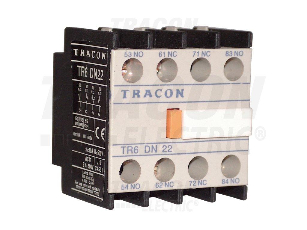 Blok čelných pomocných kontaktov k stykačom TR1D/F a TR1E 230V, 50Hz, 2A, 1×NC+3×NO