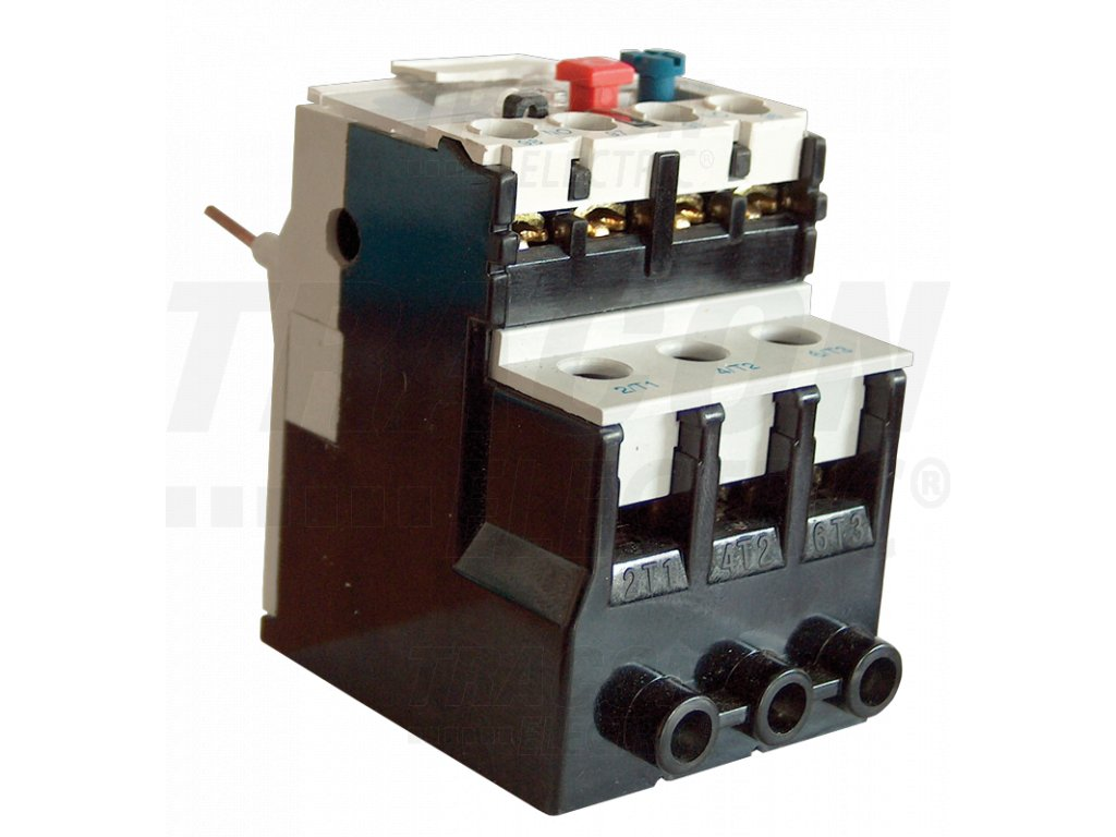 Tepelné nadprúdové relé k miniatúrnym stykačom TR1K 2,5-4A, 1×NC+1×NO TR2HK0308 Tracon