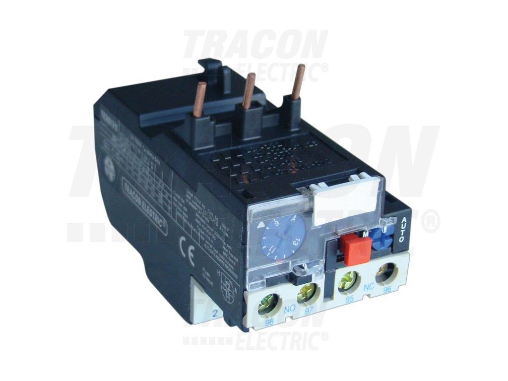 Tepelné nadprúdové relé k stykačom TR1D 1-1,6A, 1×NC+1×NO
