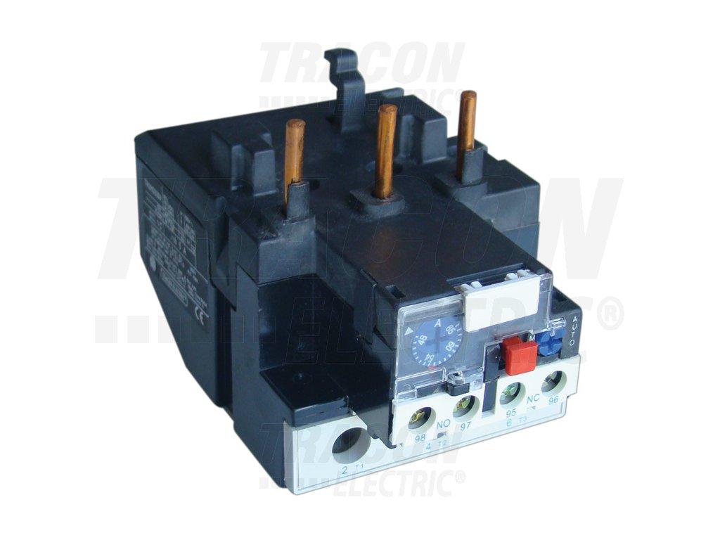 Tepelné nadprúdové relé k stykačom TR1D 63-80A, 1×NC+1×NO