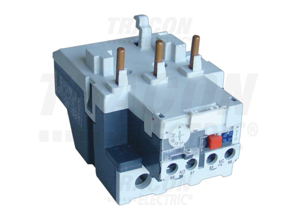 Tepelné nadprúdové relé k stykačom TR1F 80-93A, 1×NC+1×NO