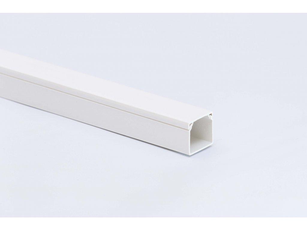 Lišta biela na káble 18x18mm 2m PVC
