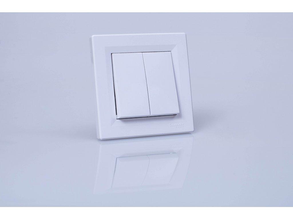 Vypínač č.5B Asfora biely EPH0600121