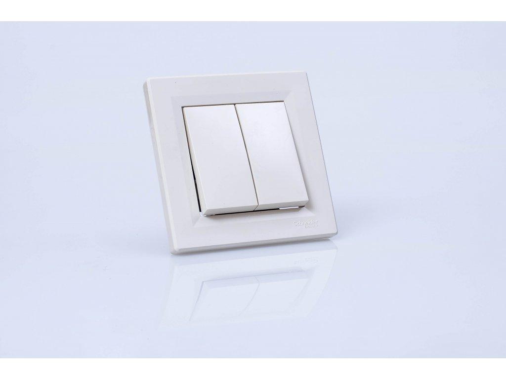 Vypínač č.5B Asfora krémový EPH0600123