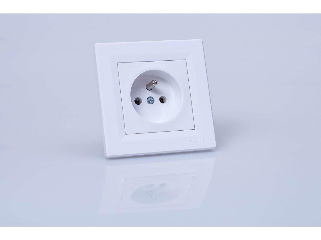 1-zásuvka Asfora biela EPH2800221