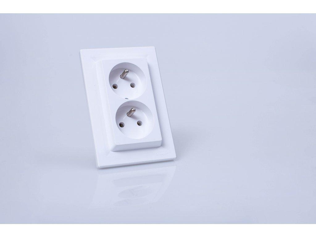 2-zásuvka Asfora biela EPH9800121