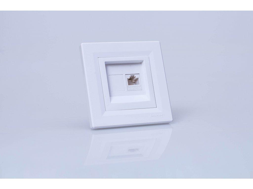 Dátová zásuvka Asfora 1xRJ45 Cat.5e UTP biela EPH4300121