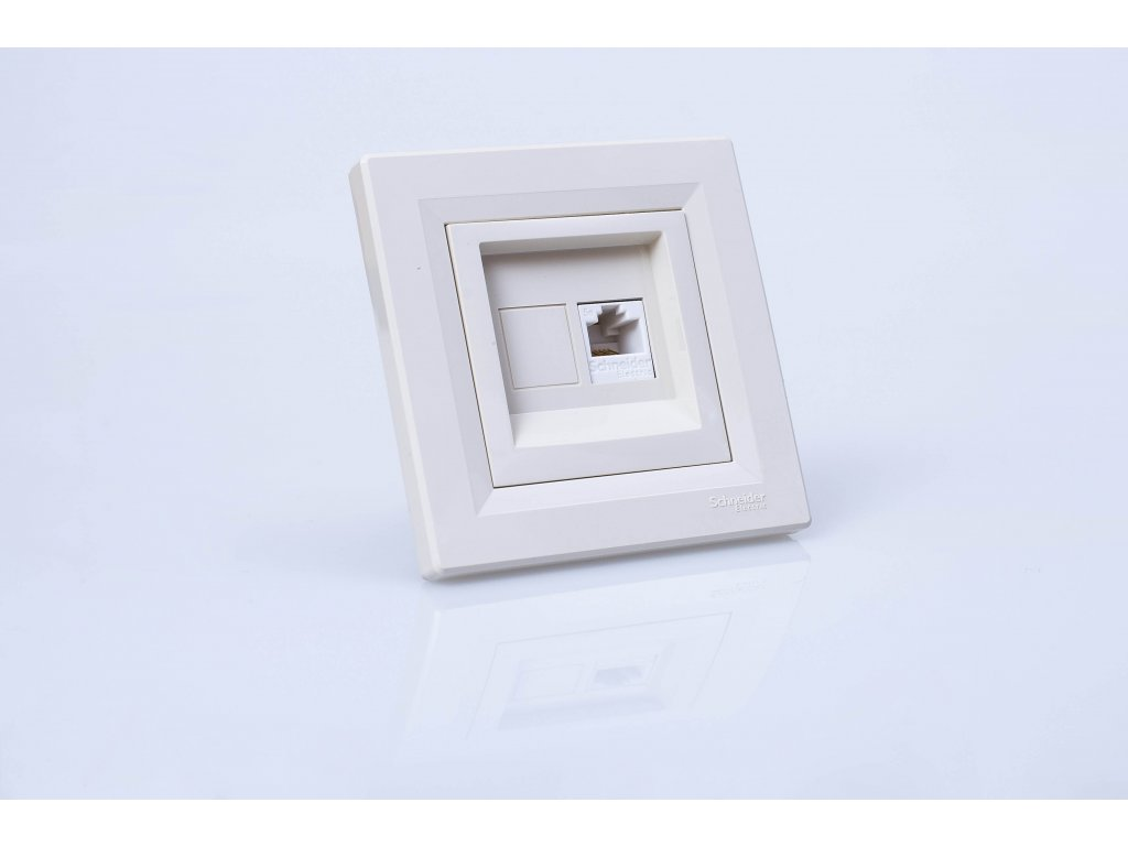 Dátová zásuvka Asfora 1xRJ45 Cat.5e UTP krémová EPH4300123