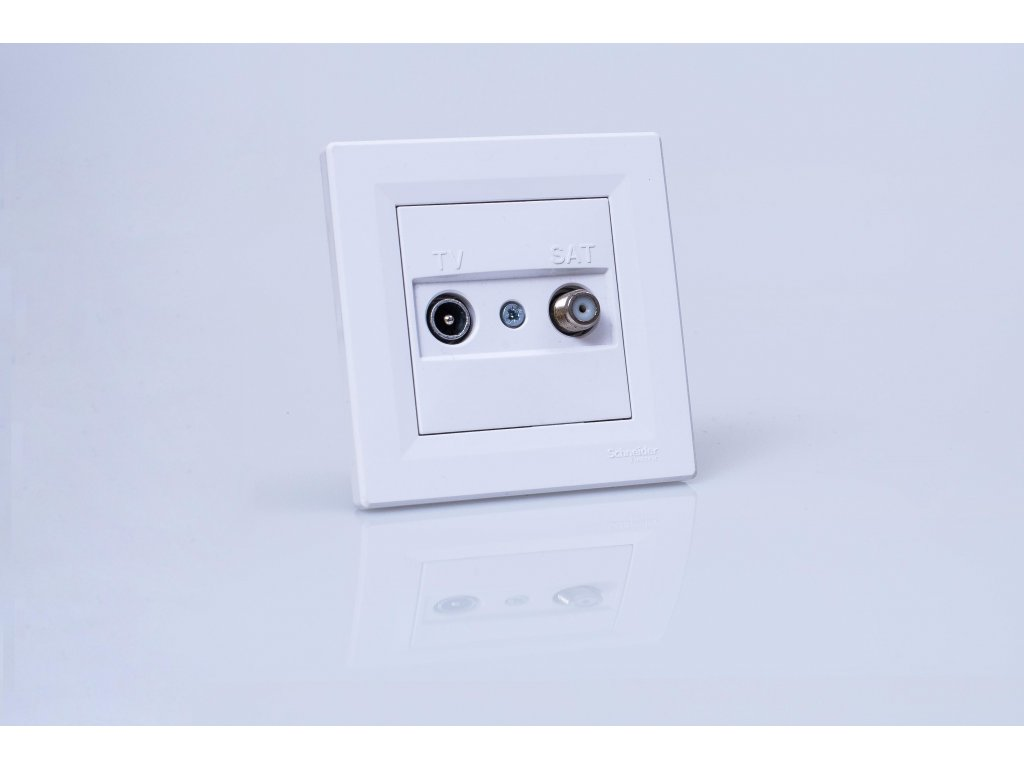 Zásuvka TV+SAT Asfora biela koncová EPH3400121