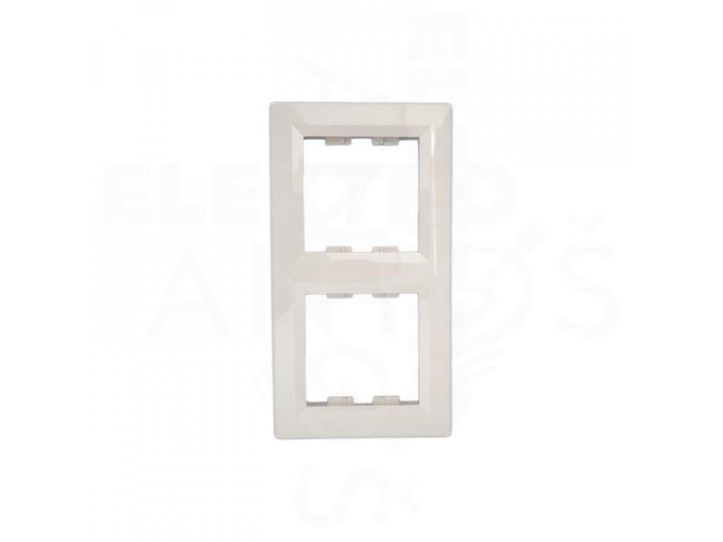 2-rámček Asfora zvislý krémový EPH5810223