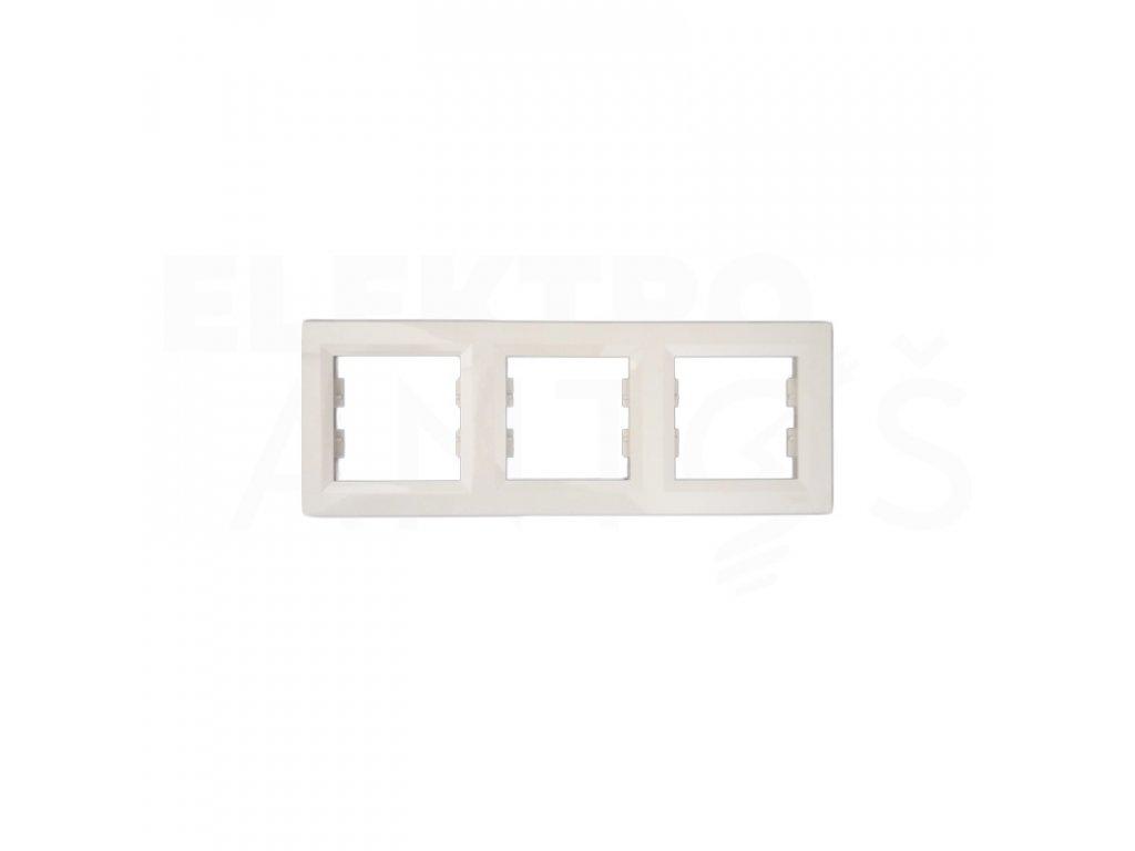 3-rámček Asfora vodorovný krémový EPH5800323