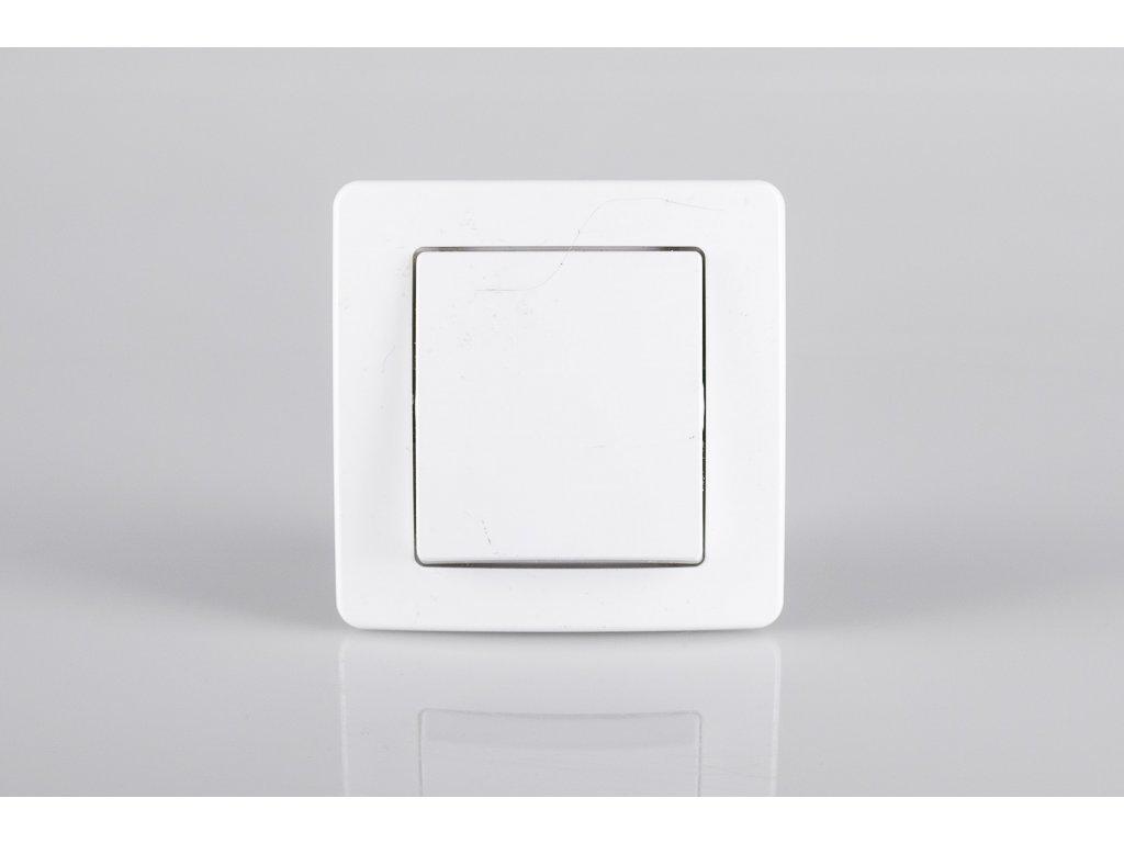 Vypínač č.1 TEM EKONOMIK lesklý biely SE10PW-U