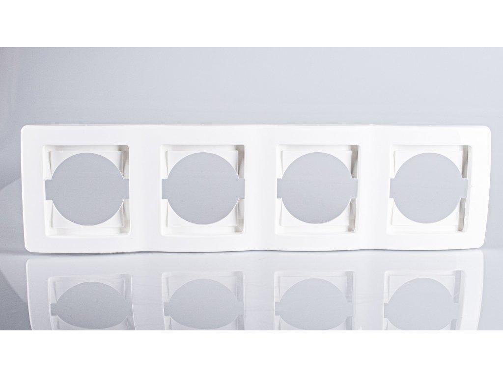 4-rámček TEM EKONOMIK vodorovný biely lesklý OE40PW-U