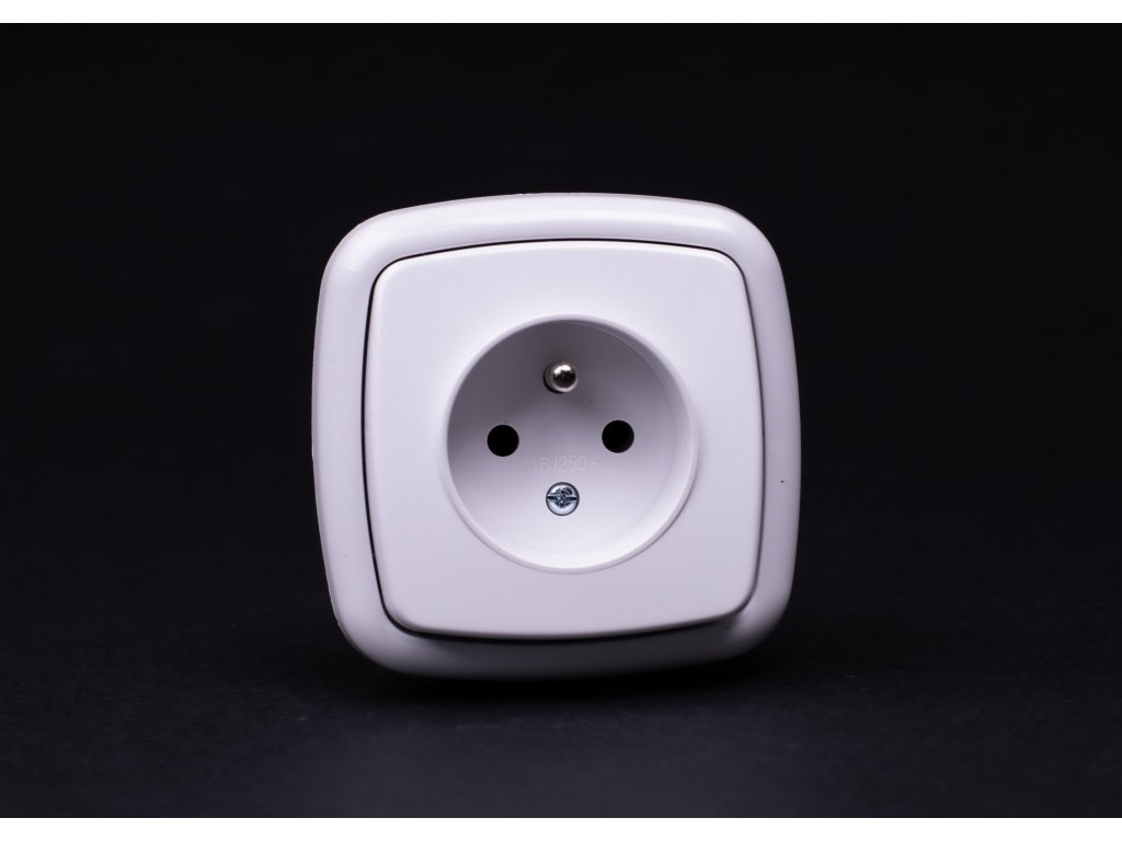 1-zásuvka Modul biela 4FN15050.901 Tesla